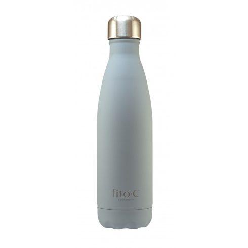 fito.C - Grey Mat Velvet Thermos Bottle - Szürke Mattbársony Termosz Palack, 500ml